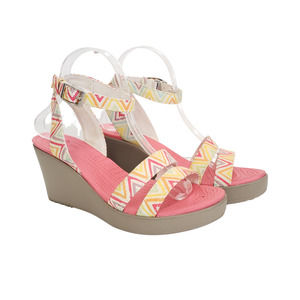 Crocs Leigh Coral Wedge Sandals Size 9